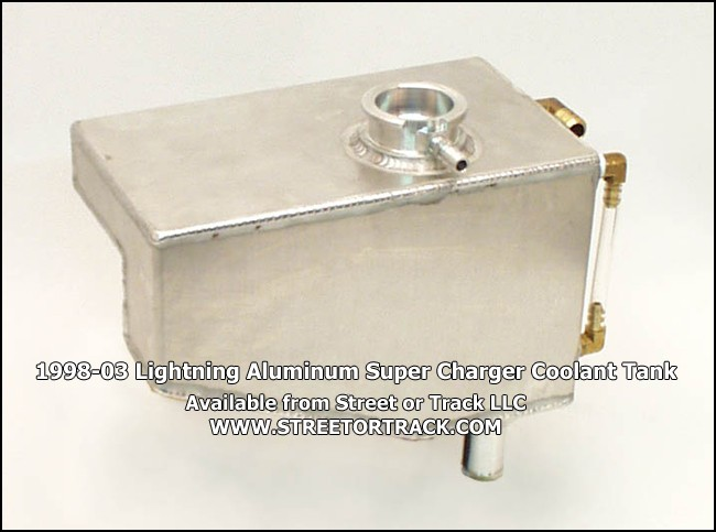 1998-03 Lightning Aluminum Super Charger coolant tank