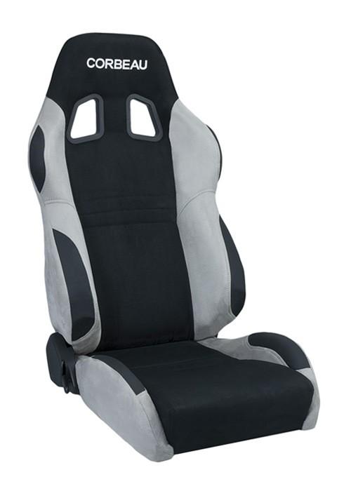 Corbeau A4 Black/Grey Micro-Suede