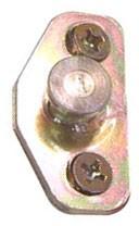 Door striker plate and shim