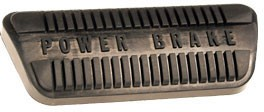 Power brake pedal pad