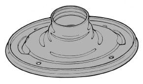 Fuel filler pipe to trunk floor seal