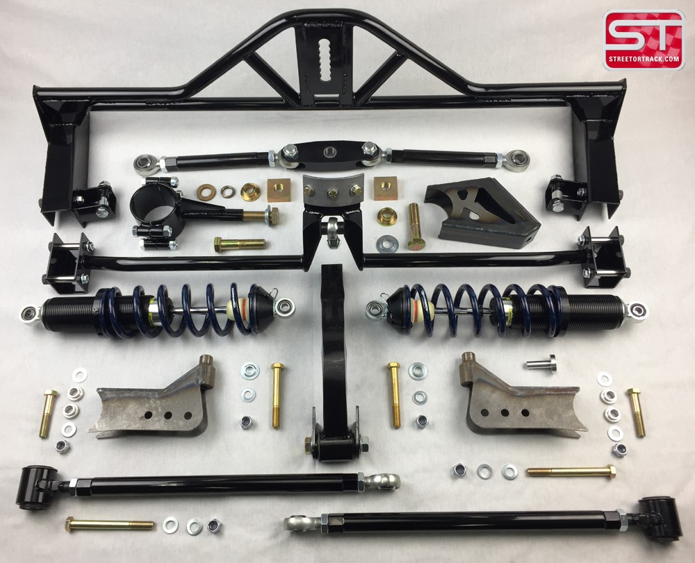 This huge step forward in rear suspension technology for your 65 73 mustang completely replaces the heavy and non adjustable leaf springs and stock type