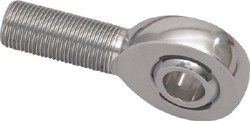 Rod end features a Teflon & Kevlar race that is self lubricating & self-sealing