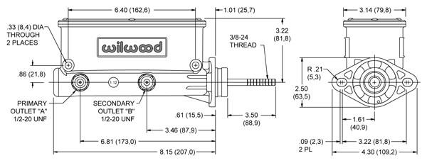 Aluminum Tandem Chamber Master Cylinder - 1