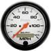"Auto Meter Phantom 3-3/8"" 120mph Programmable Speedometer"
