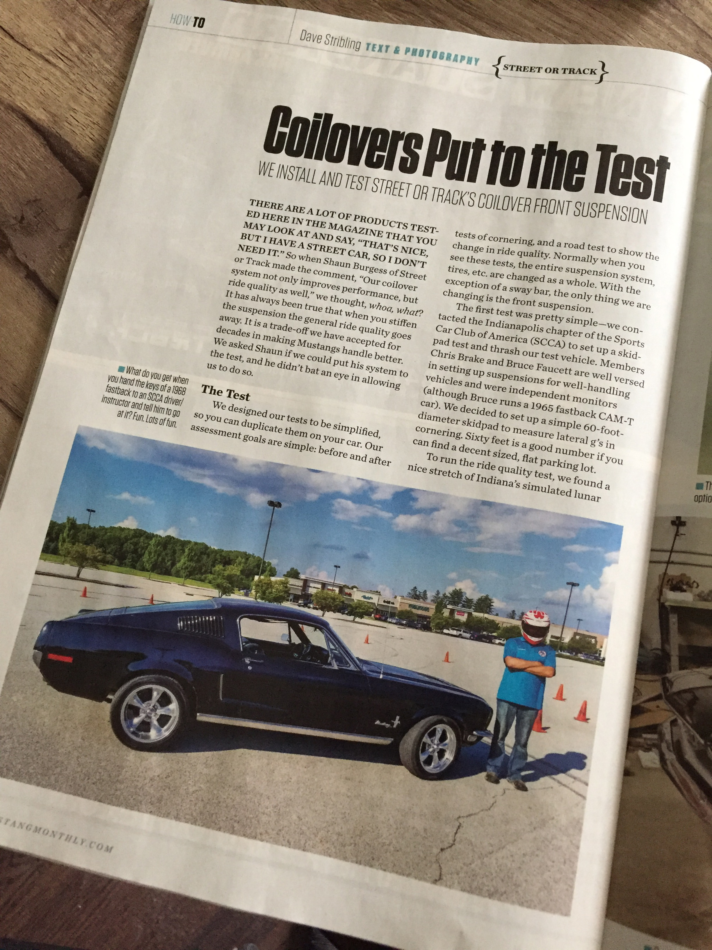 Coilover test results in Mustang Monthly - Vintage Mustang Forums